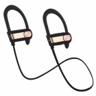 Q7 Sweatproof Noise Reduction Bluetooth Earphone - Black + Golden
