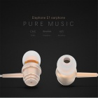 Original Elephone E1 Wire Control In-ear Earbud w/ Mic - Golden