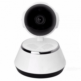 720P 1.0MP Mini Wi-Fi Security Baby Monitor IP Camera - White + Black