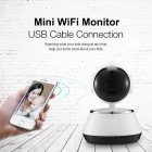 720P 1.0MP Mini Wi-Fi Security Baby Monitor Câmera IP-Branco + Preto