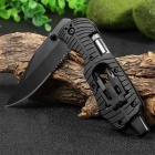 Multifunctional Liner Lock Folding Knife with Screw Heads / LED Light