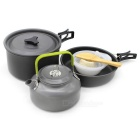 Sunfield Portable Outdoor Camping Picnic Cooking Pot - Black + Grey
