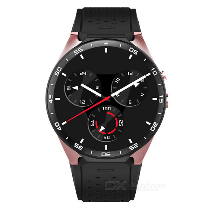 "Fashion Android 5.1 Quad-Core 1.39"" Smart Watch - Rose Gold + Black"