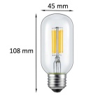 KWB E27 6W Edison Warm White Light Filament Bulb 2300K (AC 85~265V)