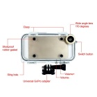 Waterproof Case w/ Wide-angle Lens, Gopro Connector for IPHONE 5/5S/SE