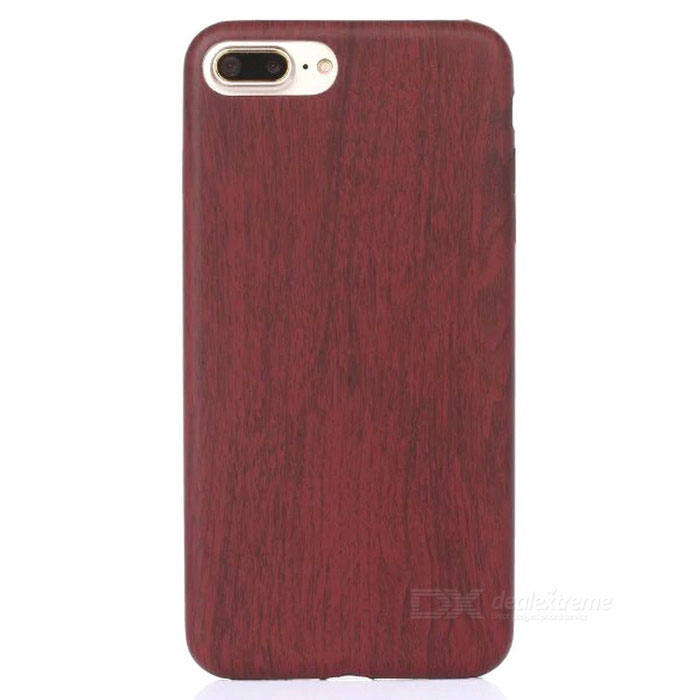 Wood Pattern Ultra Thin Soft PU Leather for IPHONE 7 - Wine Red