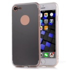 """TPU + PC Mirror Back Case Cover for IPHONE 7 4.7"""" - Translucent Black"""