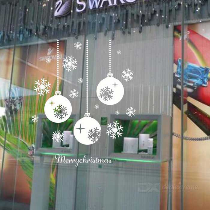 Removable DIY 3D Snowflake Decoration Wall Sticker - WhiteWall Sticker <br>Form  ColorWhiteShade Of ColorWhiteMaterialPVCQuantity1 DX.PCM.Model.AttributeModel.UnitStyleContemporaryDimension43*73 DX.PCM.Model.AttributeModel.UnitPacking List1 * Wall sticker<br>