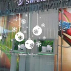 Removable DIY 3D Snowflake Decoration Wall Sticker - White