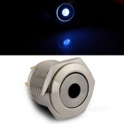 QooK 16mm 3V Blue LED Momentary On/Off Push Buttons Switch for Car