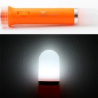 YAGE Rechargeable LED Torch Flashlight Dual Light Source - Orange