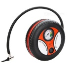 Portable Air Compressor Wheel 260psi Tyre Inflator Pump - Black + Red