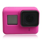 Protective Silicone Case + Lens Cap Cover for GoPro Hero 5 - Deep Pink