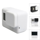 Protective Silicone Case + Lens Cap Cover for GoPro Hero 5 - White