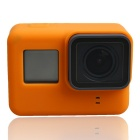 Protective Silicone Case + Lens Cap Cover for GoPro Hero 5 - Orange