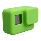 Protective Silicone Case + Lens Cap Cover for GoPro Hero 5 - Green