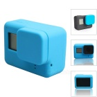 Protective Silicone Case + Lens Cap Cover for GoPro Hero 5 - Blue