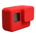 Protective Silicone Case + Lens Cap Cover for GoPro Hero 5 - Red