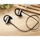 Q7 Sweatproof Noise Reduction Bluetooth Earphone - Black + Silver