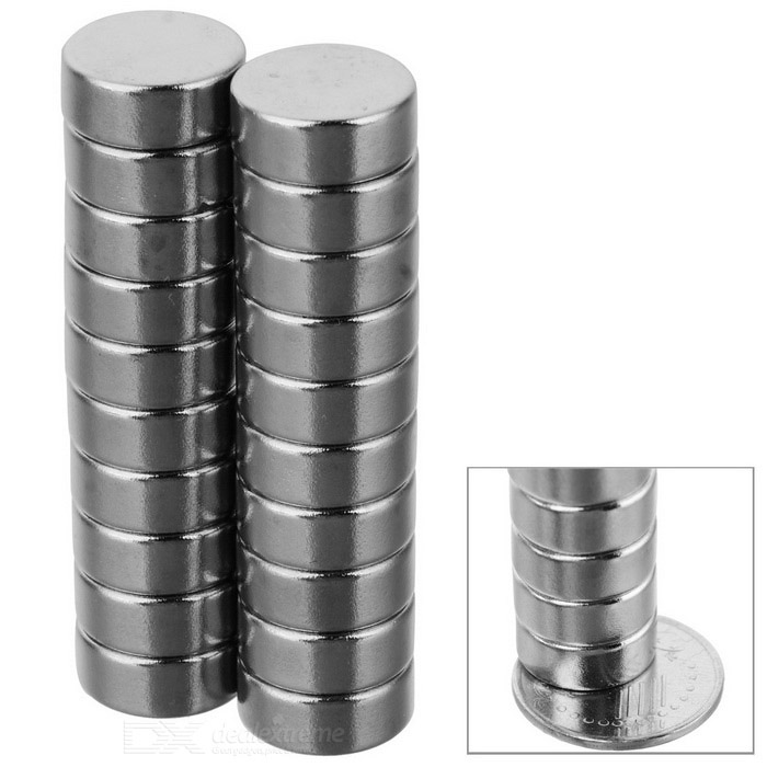 D12 * 6mm Cylindrical Strong NdFeB Magnet - Silver (20 PCS)Magnets Gadgets<br>Form  ColorSilverMaterialNdFeBQuantity1 DX.PCM.Model.AttributeModel.UnitNumber20Suitable Age 12-15 years,Grown upsPacking List20 * Magnets<br>