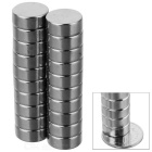 Buy D12 * 6mm Cylindrical Strong NdFeB Magnet - Silver (20 PCS)
