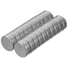 D12 * 6mm Cylindrical Strong NdFeB Magnet - Silver (20 PCS)