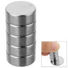 Buy D12 * 6mm Cylindrical Strong NdFeB Magnet - Silver (5 PCS)
