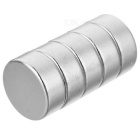 D12 * 6mm Cylindrical Strong NdFeB Magnet - Silver (5 PCS)