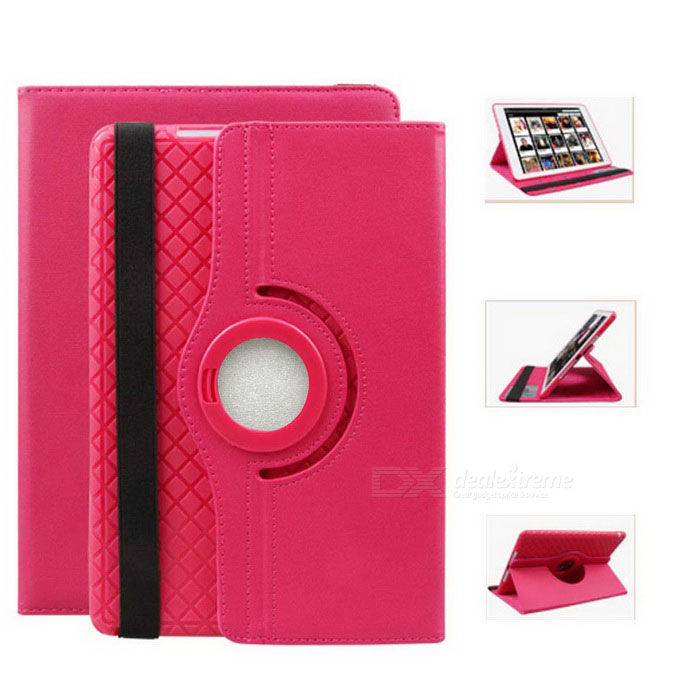 360' Rotating Detachable TPU Twill Soft Case fo IPAD MINI 1/2/3 Red