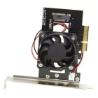 CY SA-207 PCI-E 3.0 x4 Lane Host Adapter Converter - Black + Silver