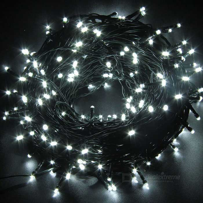 How Do U String Lights On A Christmas Tree : 66ft 200-LED 2-Mode Solar Powered LED Twinkle Cold White String Lights - Free Shipping - DealExtreme