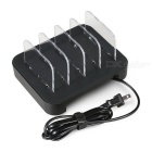 BLCR 24W 4 Ports Multi-Function USB Charging Station - Black (US Plugs)
