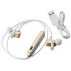 DseKai M2 Bluetooth V4.1 Stereo In-Ear Earphone - Gold + White