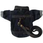 Stylish Denim Jacket Style Money / Keys Storage Wallet - Denim Blue