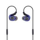 REMAX RM-S1 Pro In-Ear Wired Sports Earphone - Blue + Black