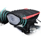 Kitbon Waterproof Rechargeable Bike Horn Light - Red + Black