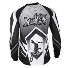 NUCKILY Outdoor Sports Long Sleeve Cycling Jersey - Black + Grey (XL)