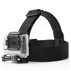 GP-HS2 Adjustable 3 Line Non-Slip Glue Head Strap Set for Gopro -Black