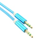 3.5mm Male to Male AUX Audio Connection Cable - Blue (100cm)