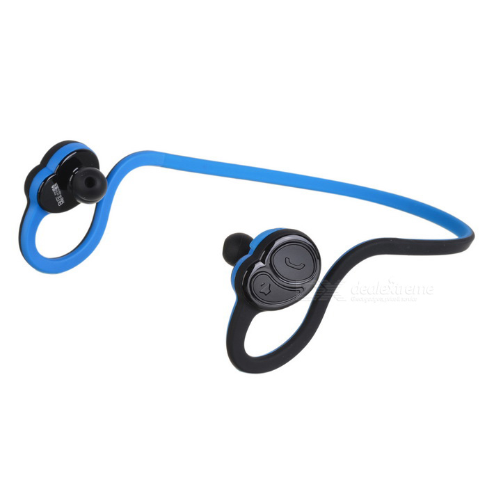 DseKai HV-600 Stereo Sports Bluetooth V4.1 Earphone - Black + BlueHeadphones<br>Form Color Black + BlueBrandOthers,DseKaiModelHV-600MaterialABS + SiliconeQuantity1 pieceShade Of ColorBlackConnectionBluetoothBluetooth VersionBluetooth V4.1Operating Range10mConnects Two Phones SimultaneouslyYesCable Length33 cmHeadphone StyleNeckbandWaterproof LevelIPX0 (Not Protected)Applicable ProductsUniversalHeadphone FeaturesVolume Control,With Microphone,Lightweight,Portable,For Sports &amp; ExerciseSupports MusicYesRadio TunerNoSupport Memory CardNoSupport Apt-XYesSNR&gt;95THDFrequency Response20Hz-20KHzImpedance16 ohmBuilt-in Battery Capacity 80 mAhStandby Time200 hoursTalk Time6 hoursMusic Play Time4 hoursPower Supply5VPacking List1 * Bluetooth Earphone1 * USB Charging Cable (80cm)4 * Earbuds1 * English User Manual<br>