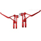 AEST YBL70A-02 CNC Aluminum Bike Brake Lever w/ Spring - Red (2 PCS)