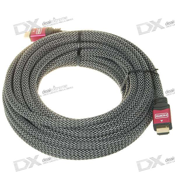 Gold Plated 1080P HDMI 19-Pin V1.4 M-M Connection Cable (10M-Length)