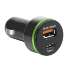 Itian K5 Quick Charge 3.0 USB Billaddare med USB 3.1 Typ C Interface