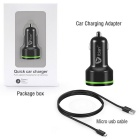Itian K5 Quick Charge 3.0 USB Car Charger w/ USB 3.1 Type C Interface