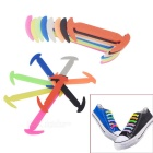 Forma de foice ao ar livre multi-colored silicone lazy shoelaces (16 pcs)