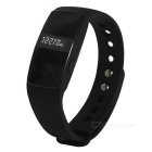 Bluetooth Heart Rate Monitor Smart Bracelet w/ Remote Camera - Black
