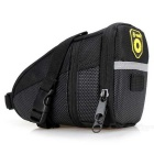 Outdoor Cycling Equipment Bicycle Accessories Storage Polyester Saddle Bag Folding Bag - Black