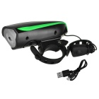 Kitbon Waterproof Rechargeable Bike Horn Light - Black + Green