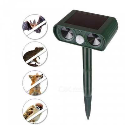 Solar Powered Pest Animal Repeller Repellent Garden Bat Cat Dog Fox