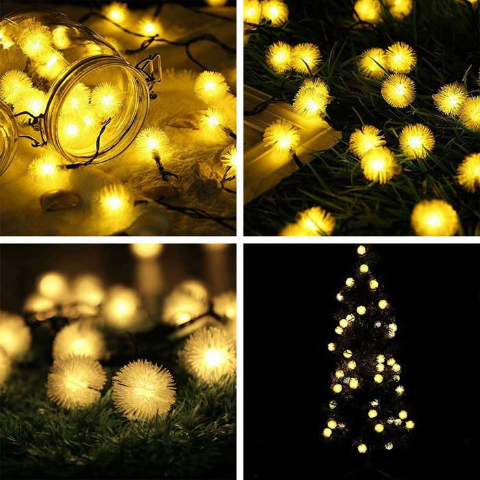 Joyshine Solar 15W 50-LED String Light Yellow Light for Christmas - Free Shipping - DealExtreme